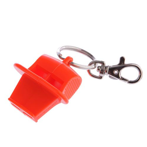 118db Emergency Safety Whistle With Split Ring and Clip