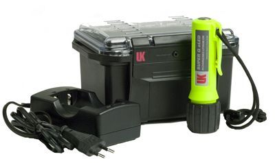 Underwater Kinetics - Super Q eLED Dive Torch, Battery, Charger and Lanyard